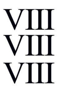 8 in Roman Numerals pdf