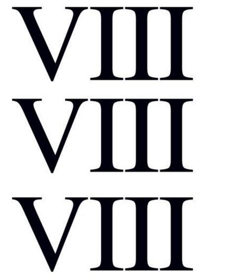 8 in Roman Numerals